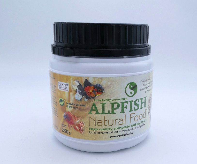 Alpfish Natural Food 250 gr - Mangime affondante 2 mm per...