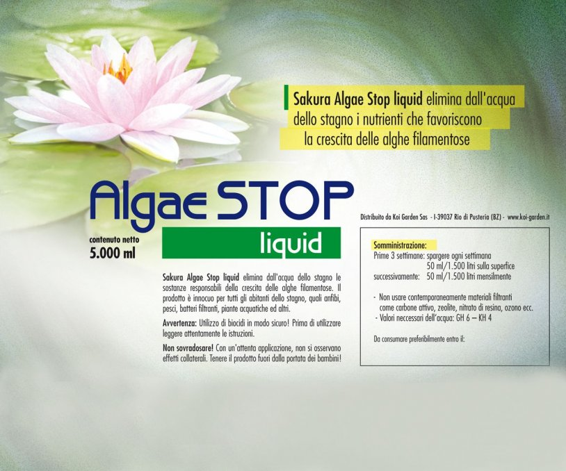 Antialghe laghetto Sakura Algae STOP liquid 5.000 ml